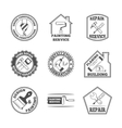 Home repair tools labels icons vector