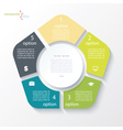 Business concept design with circle and 5 segments vector