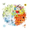 Four seasons - spring summer autumn winter vector