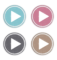 Hand drawn play buttons vector