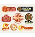 Log pizza vector