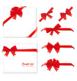 Two red bows backgrounds and ribbons vector
