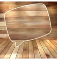Natural wood texture speech bubbles eps 10 vector