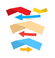 Paper labels and arrows vector