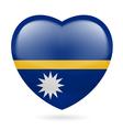 Heart icon of nauru vector