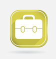 Square icon briefcase vector