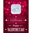 Design with hearts and flares for valentines day vector
