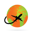 Trip around the world with the plane vector