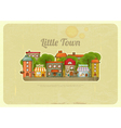 Little town retro background vector