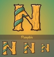 Halloween decorative alphabet - n letter vector