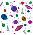 Seamless pattern space thematics vector