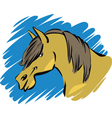 Funny farm horse vector