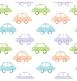 Childish background with cars for baby boy vector