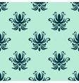 Cyan floral seamless pattern vector
