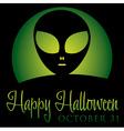Alien rising moon halloween card in format vector