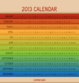Full color 2013 calendar vector
