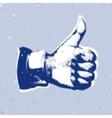 Likethumbs up symbol on a blue background vector