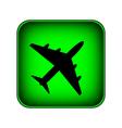 Airplane button vector