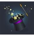 Magic hat on black vector