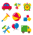 Set baby toys vector