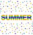 Triangular summer vector