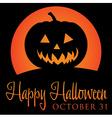Jack o lantern rising moon halloween card in vector