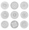 Set of hand drawn circles logo design elements vector