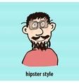 Cartoon hipster style vector