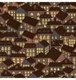 Seamless houses background vector