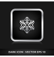Snowflake snow icon silver metal vector