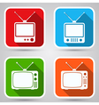Retro tv sets collection vector