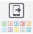 Outcoming call sign icon smartphone symbol vector
