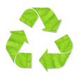 Green recycle symbol vector