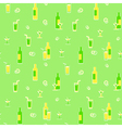 Seamless beverages pattern vector