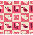 Vintage valentine seamless pattern vector