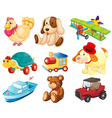 Different toys vector