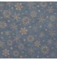 Beige snowflakes on a blue background vector