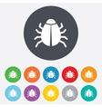 Bug sign icon virus symbol software bug error vector