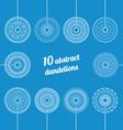 Set of abstract dandelions vector