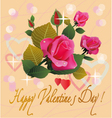 Flowers postcard valentine s day vector