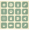 Retro food icons vector
