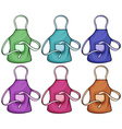 Colorful aprons vector