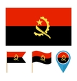Angola icons for design country vector
