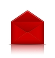 Red open envelope vector