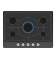 Surface for gas stove 02 vector
