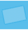 Abstract textile patch vector