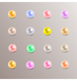 Colorful rounded pearls variation eps10 vector