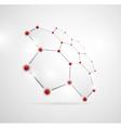 Abstract molecular structures vector
