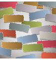 Background with torn paper banners vector