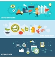 Quality control banners vector